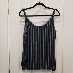 WHBM reversible cami striped